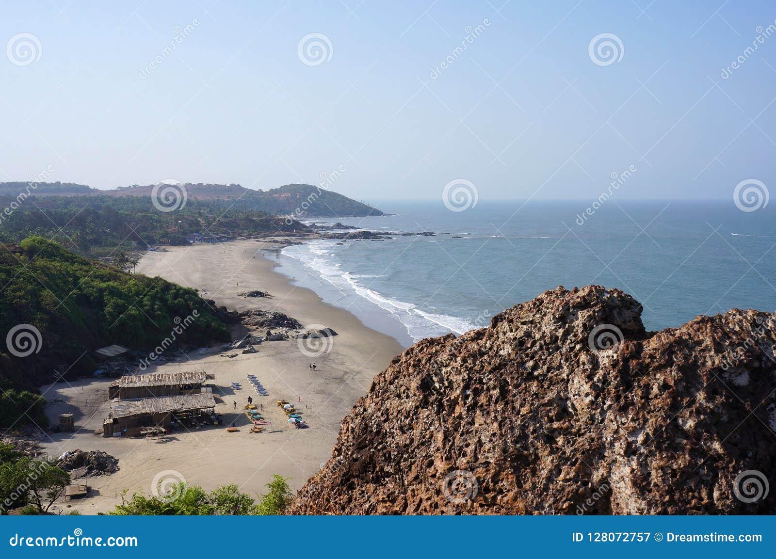 Landschap met stranden en de Indische Oceaan