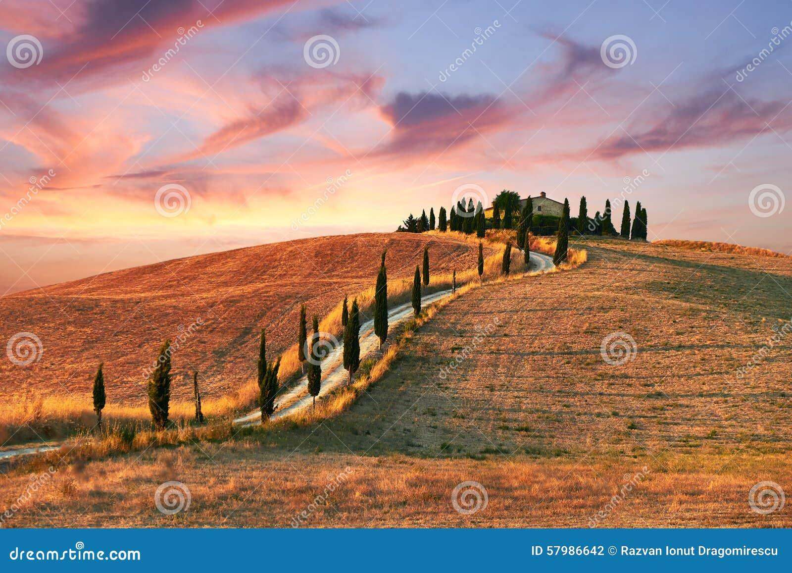 Landschap, Toscanië Val D Orcia