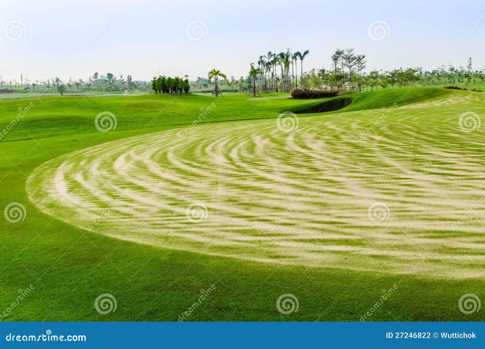 Landschap van golfcursus