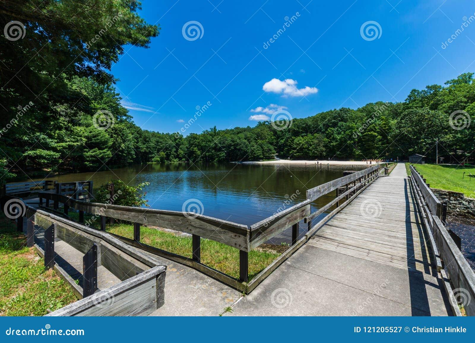 Landschap van het het Zwemmen en Visserijgebied in Kolonel Denning St