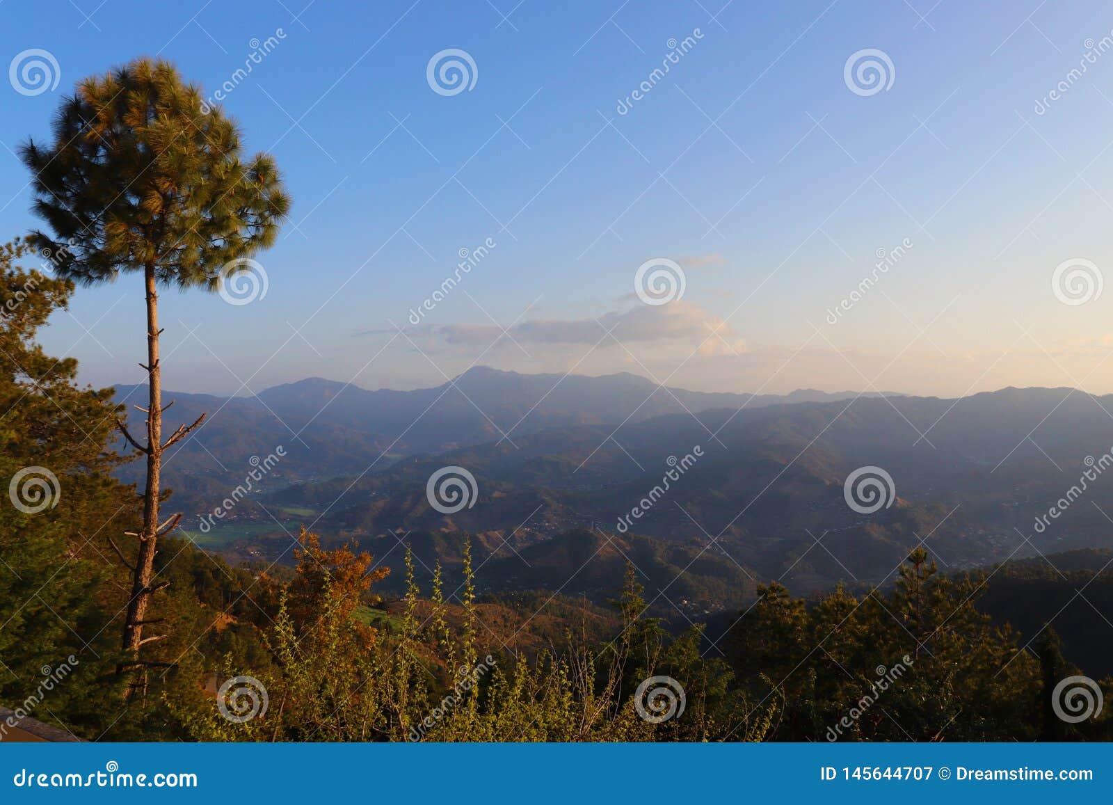 Landschap van Himalayagebergte