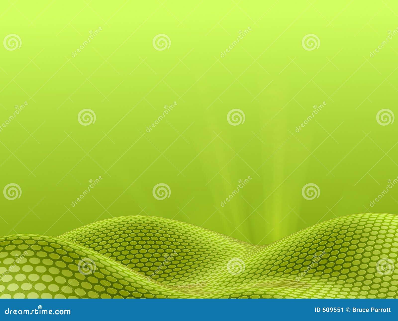 Landschap van punten - groene hemelversie