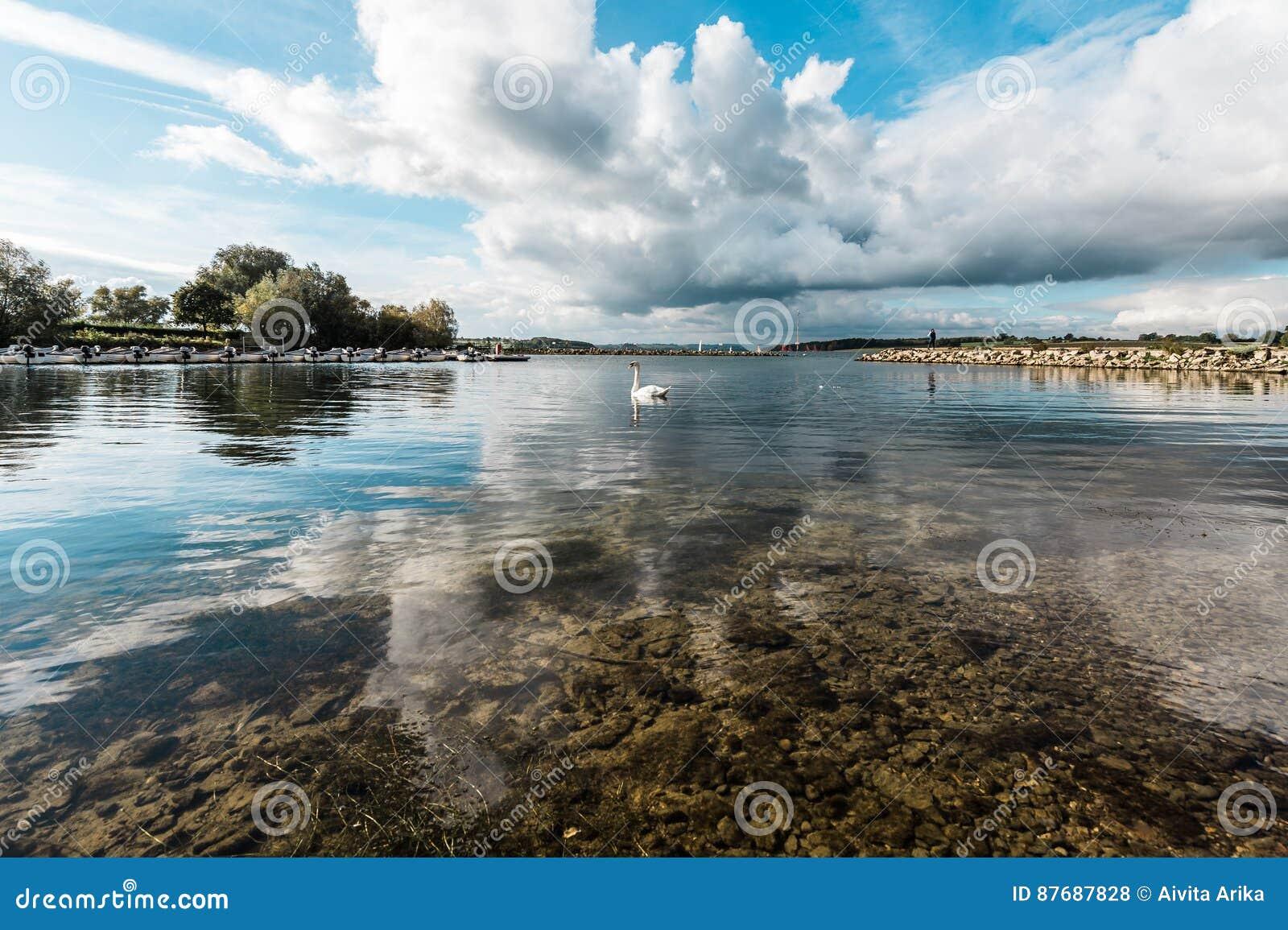 Landschap van Rutland Water Park, Engeland