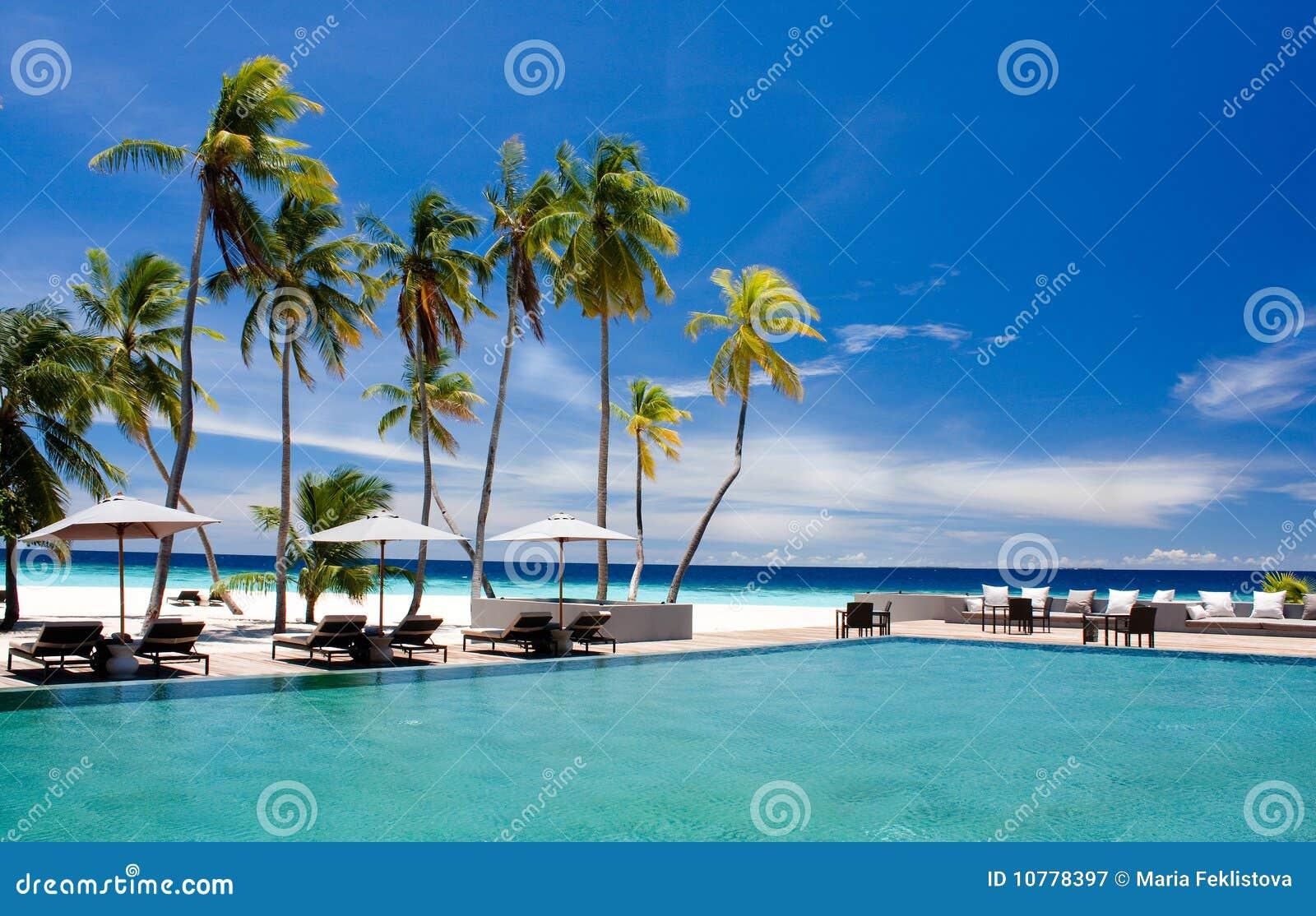 Landschap van tropische toevlucht