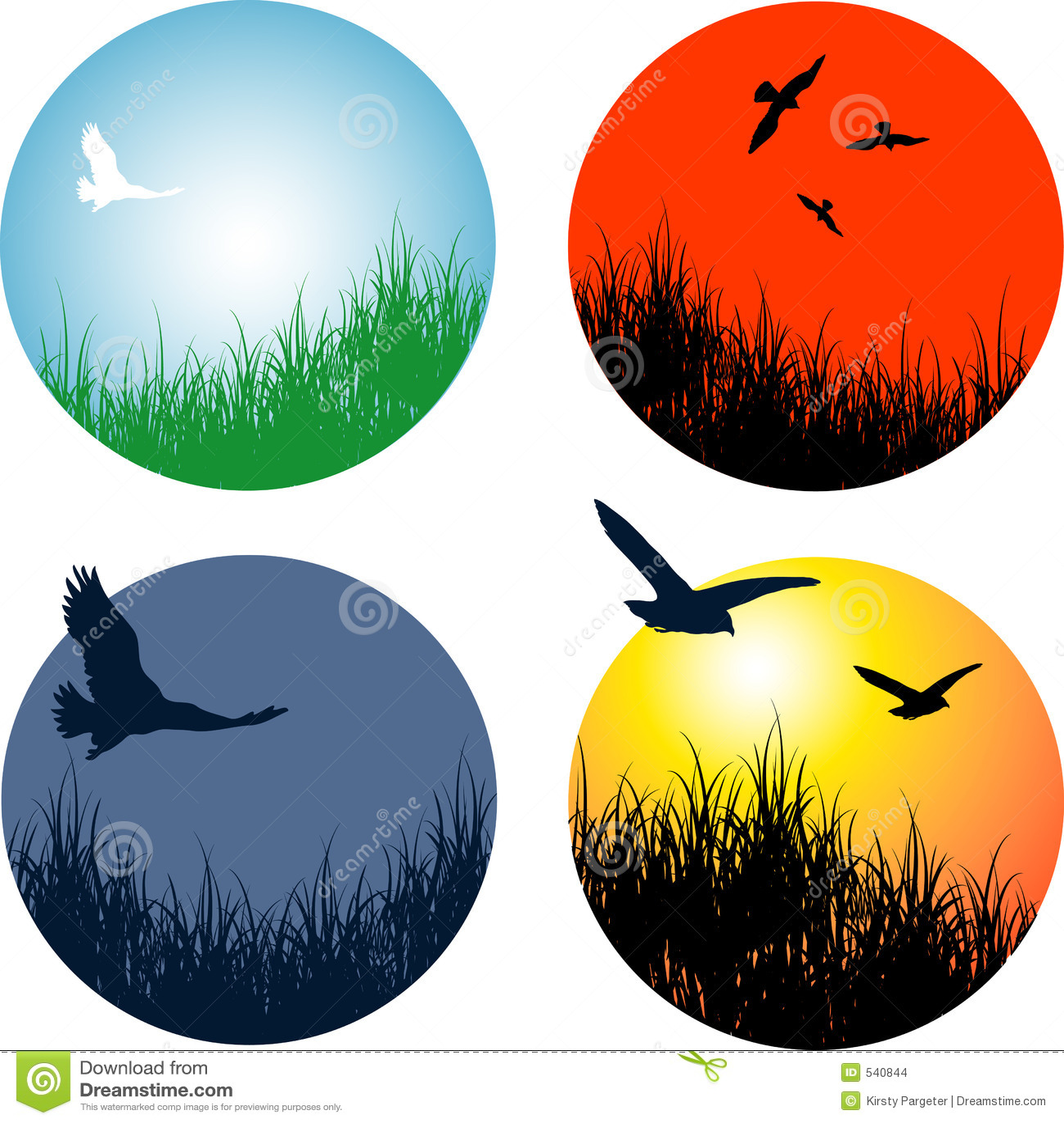Landschappen met vogels