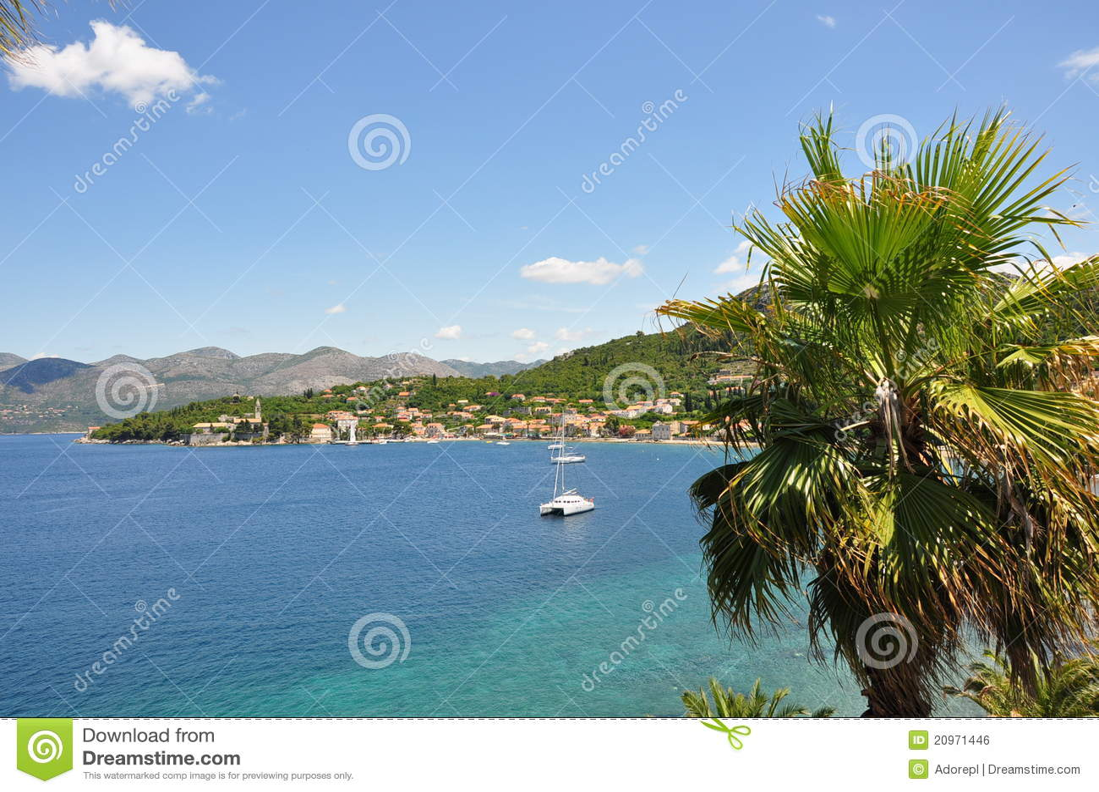 Landschappen van Lopud Eiland, Kroatië