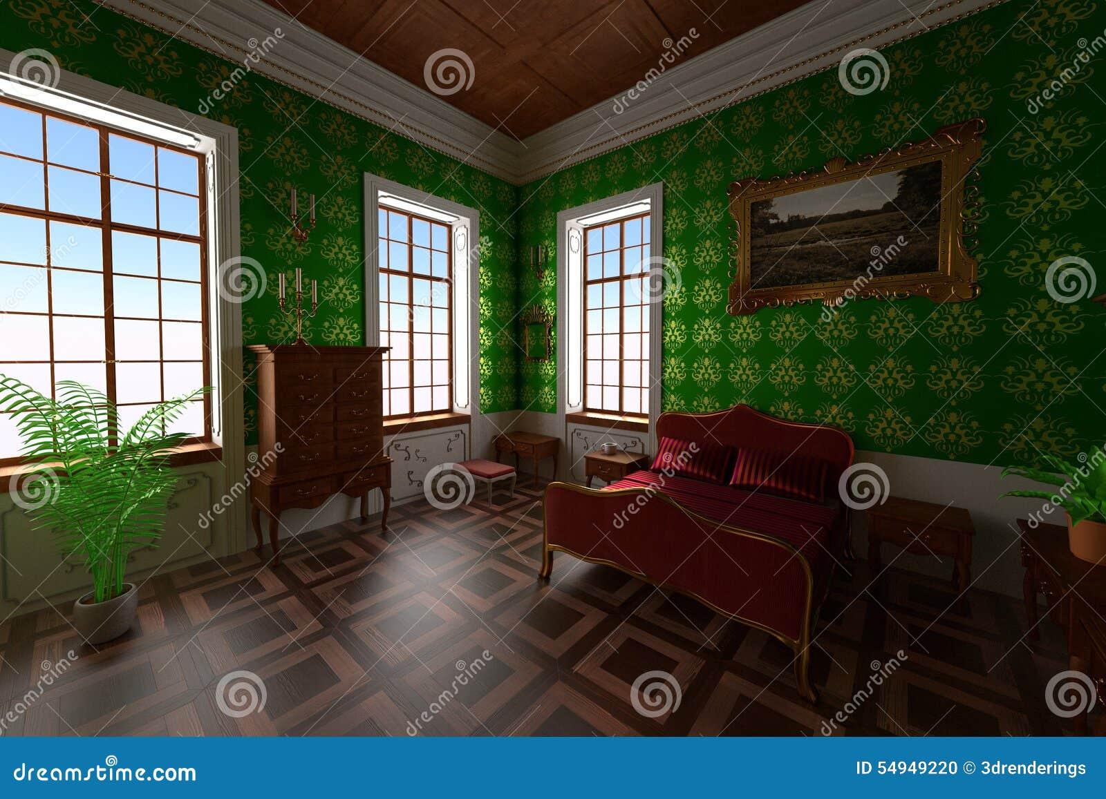 Landsitzinnenraum - Schlafzimmer