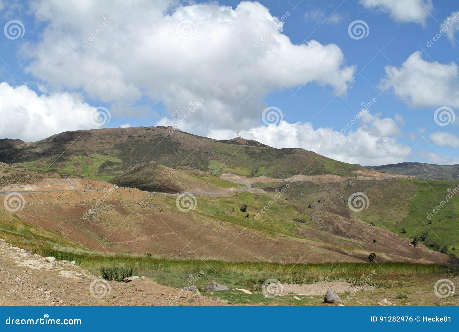 Landskap av balbergen i Etiopien