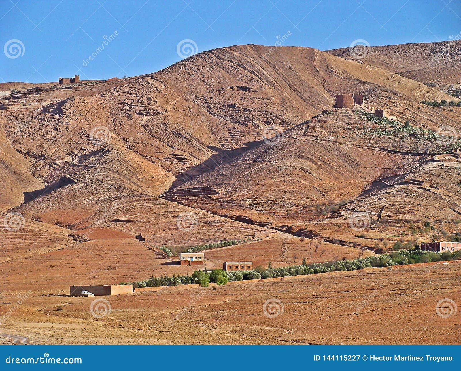 Landskap av den mellersta kartboken, Marocko