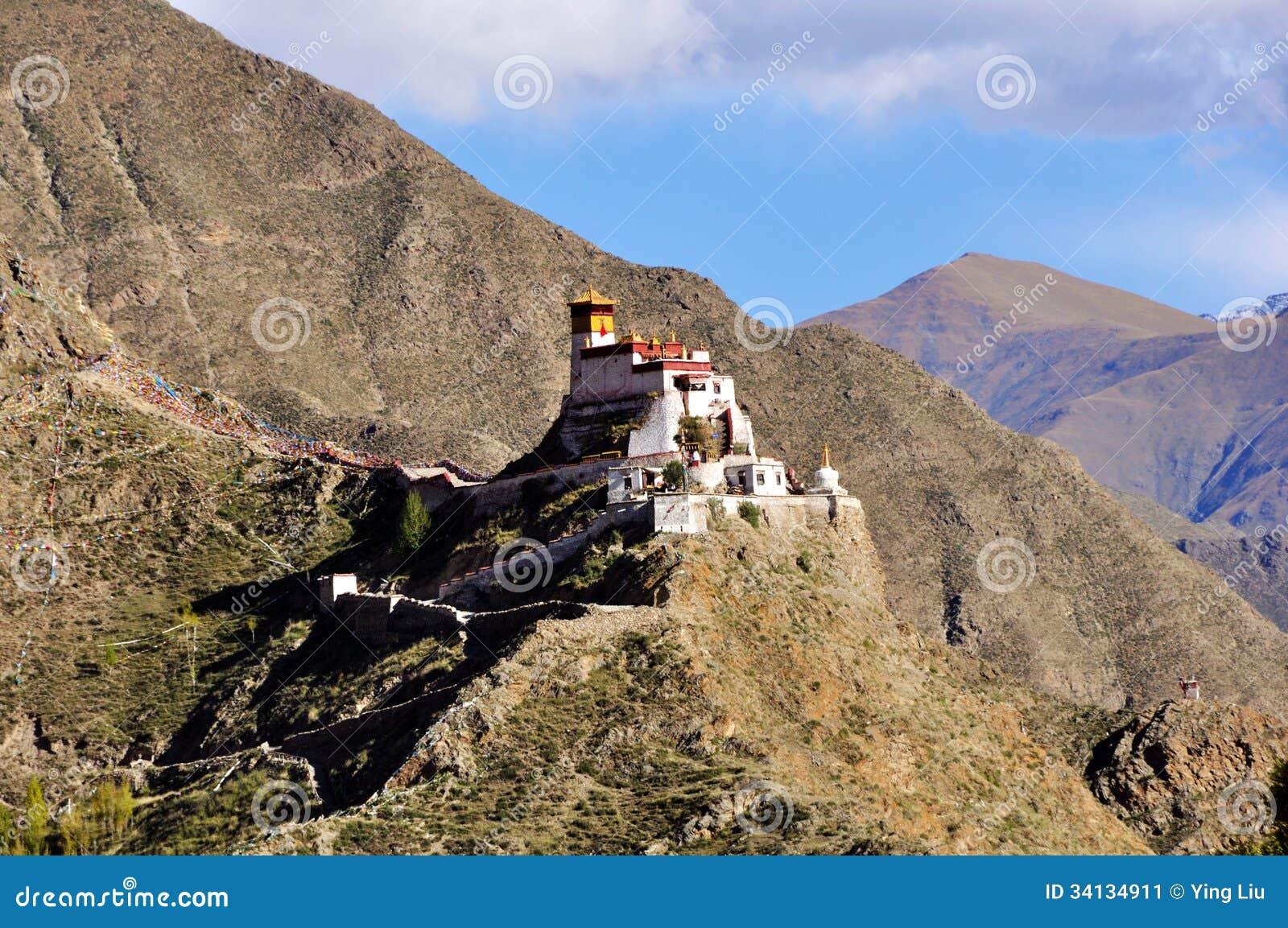 Landskap av den Yumbulagang slotten, Tibet