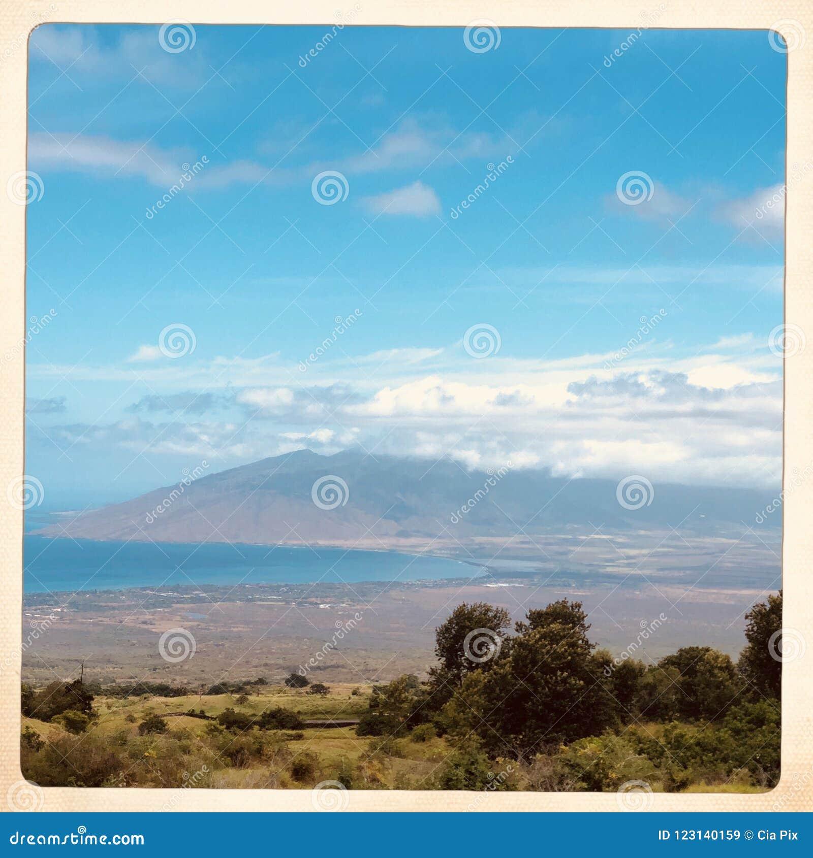 Landskap av Kula i Hawaii