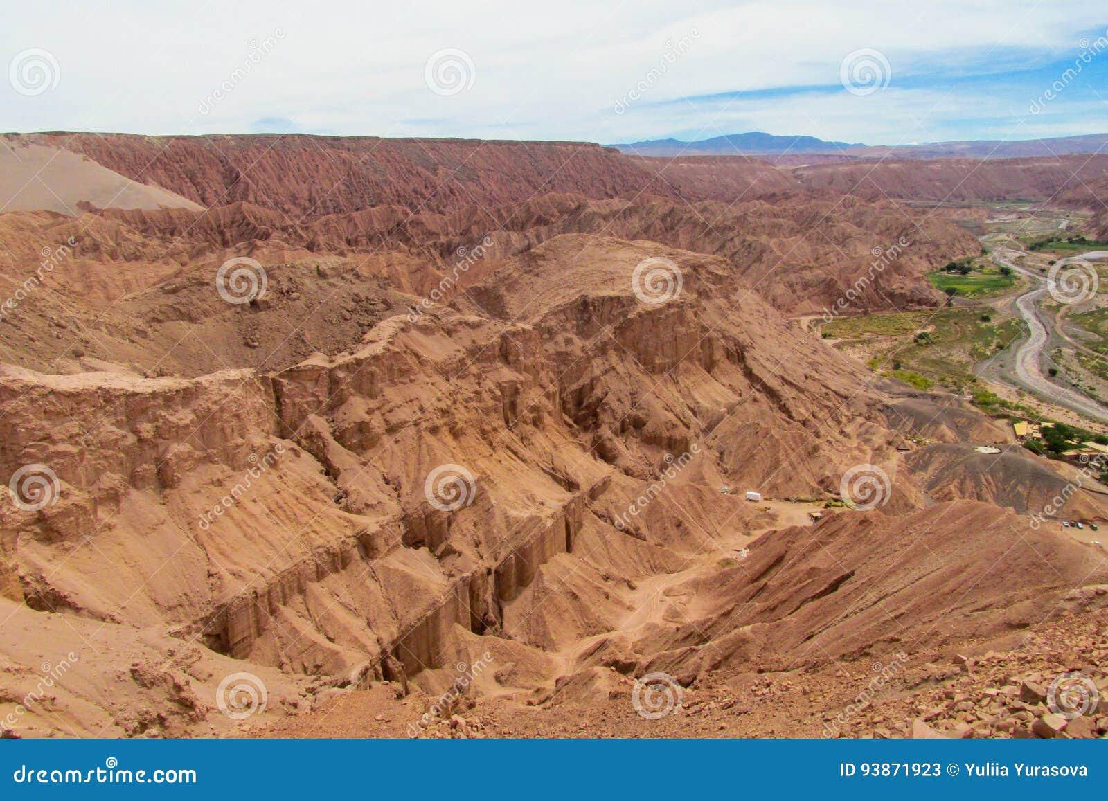 Landskap för berg för Atacama öken ointressant