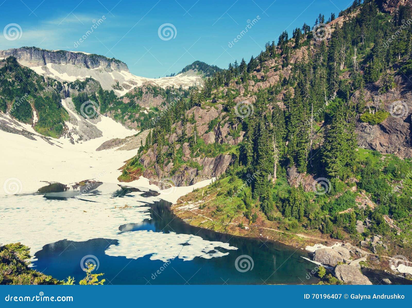 Landskap för berg för himalayasladakhlake