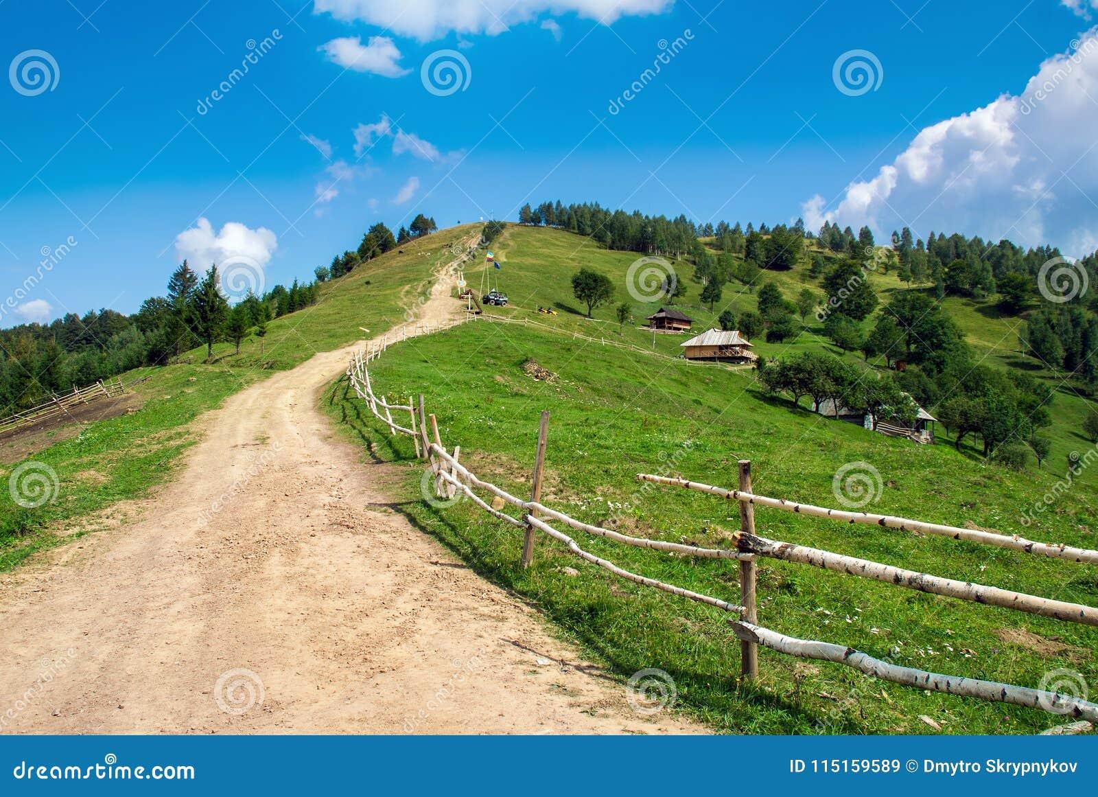 Landskap för Carpatian bergsommar