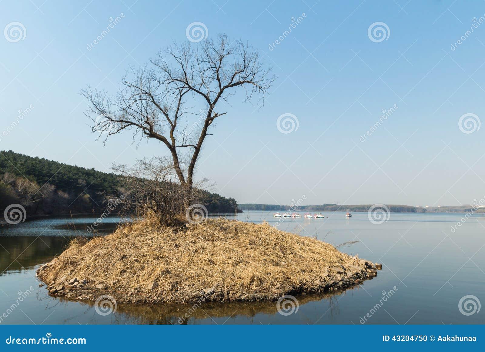Download Landskap för Jilin månesjö arkivfoto. Bild av natur, vatten - 43204750