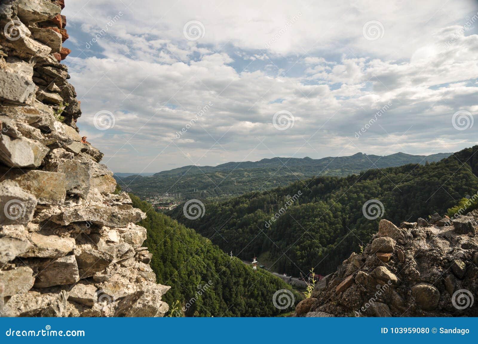 Landskap från fästning för Dracula ` s