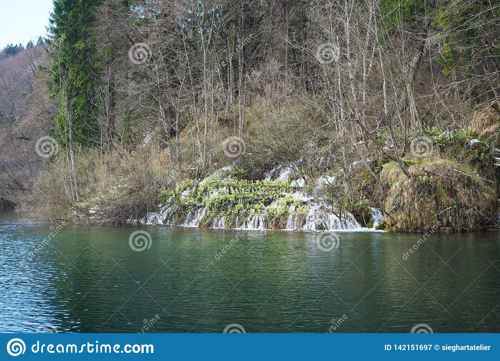 Landskapsikt av Plitvice sjönationalparken