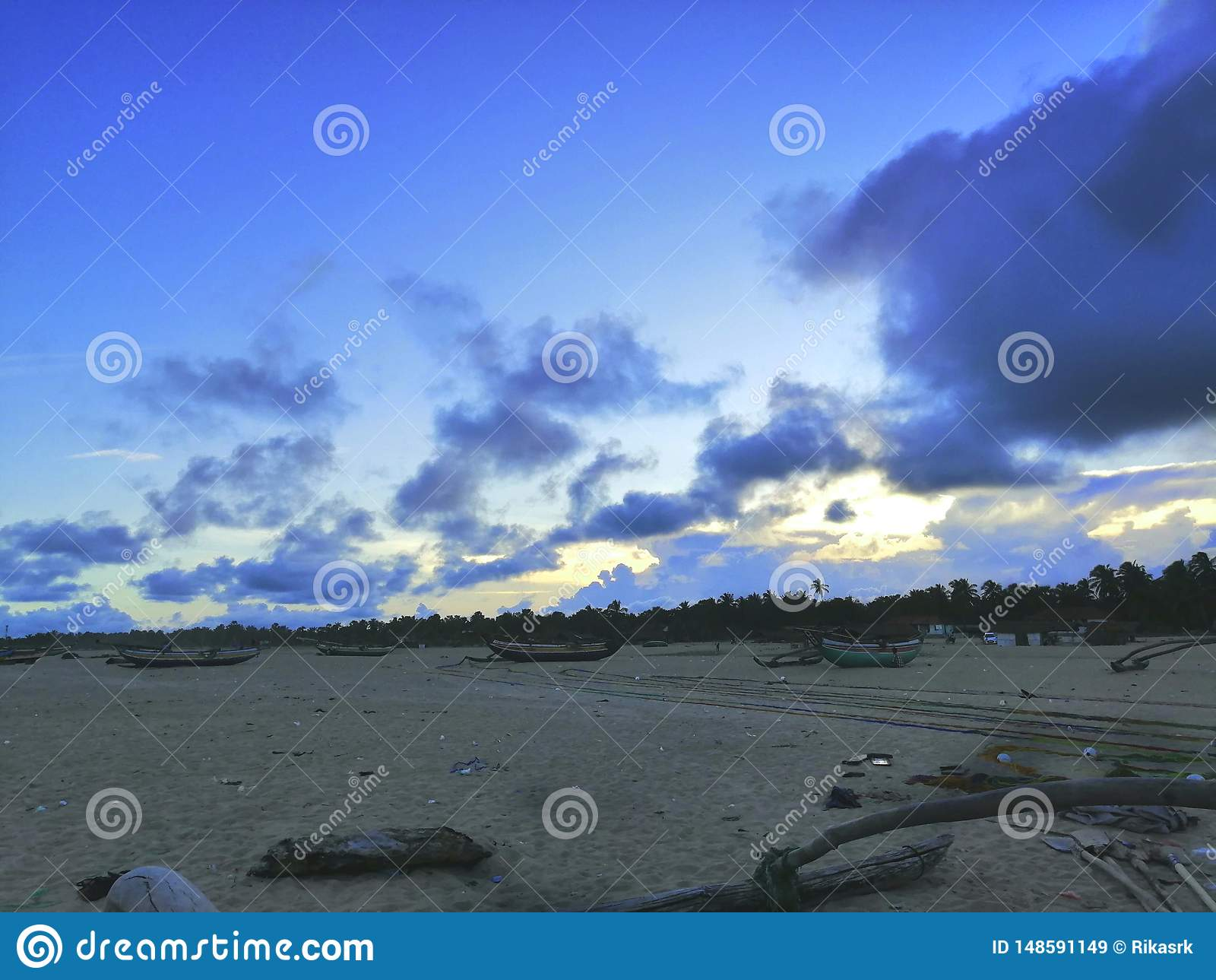 Landskapsikten av stranden