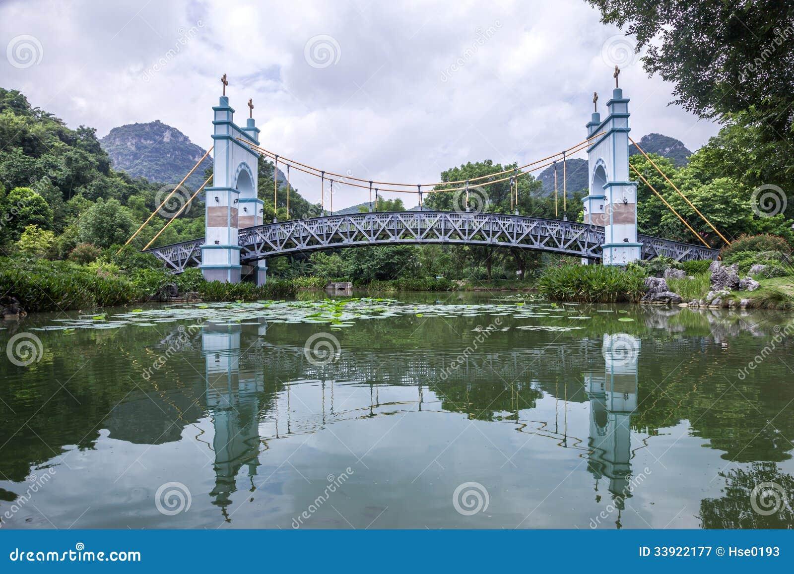 Landskapupphängningbro