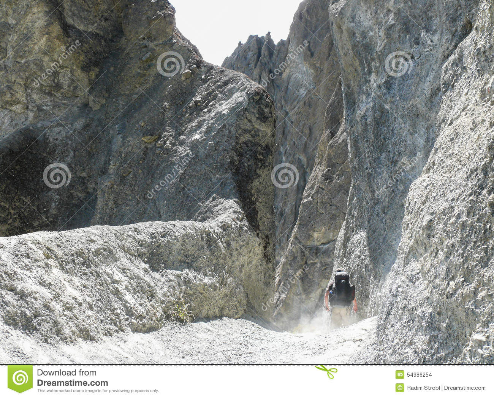 Landslide area - way to Tilicho base camp, Nepal