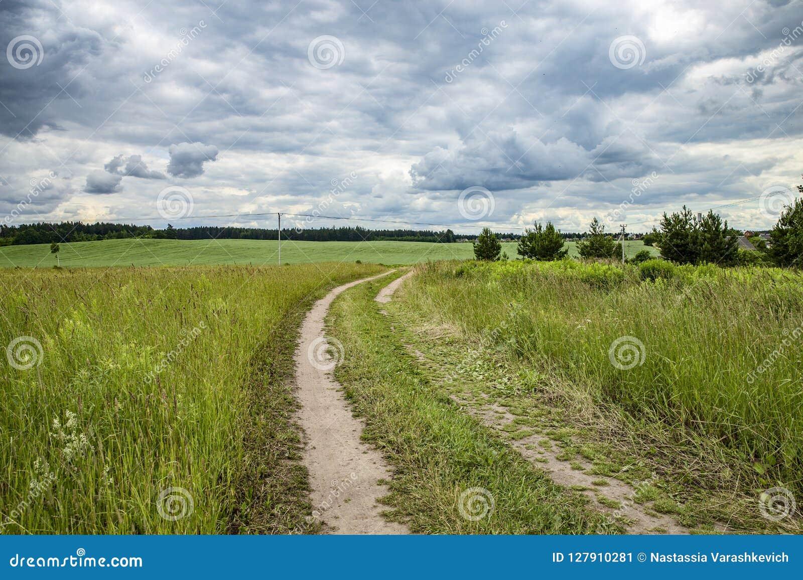 Landweg aan het gebied