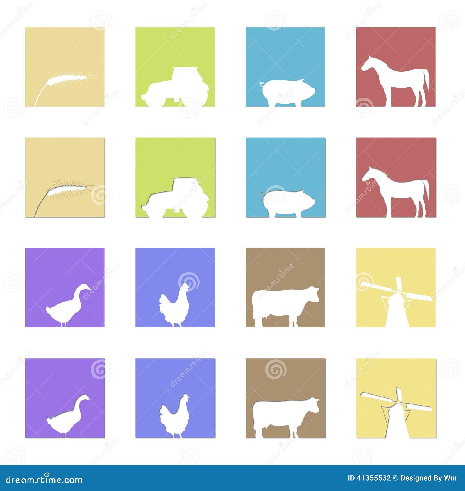 landwirtschaft von logos und von symbolen stock abbildung