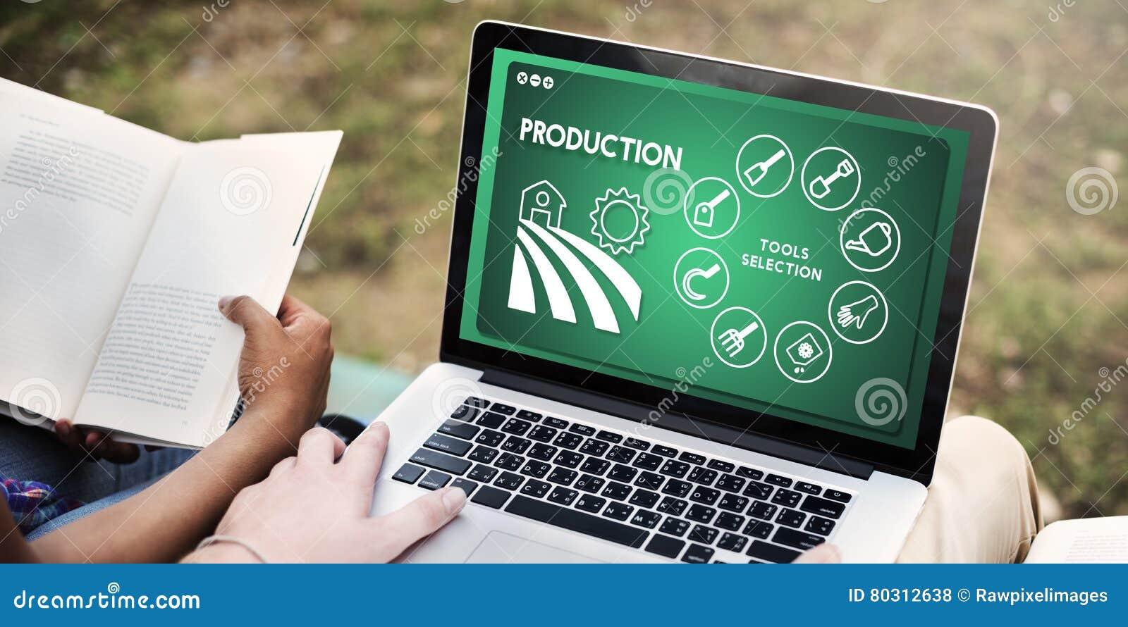 Landwirtschafts-Ernte-Agronomie-Bearbeitungs-Produktions-Konzept