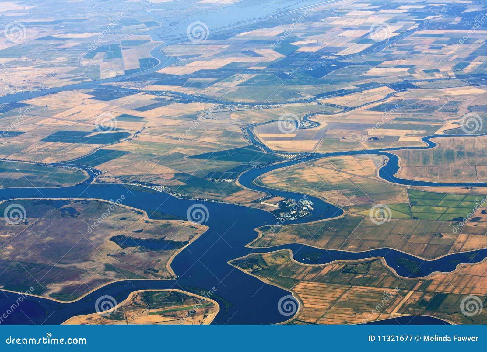 Landwirtschafts-Luftaufnahme
