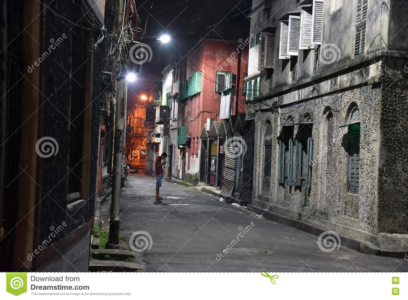 By Lane Of Kolkata Editorial Stock Image Image Of
