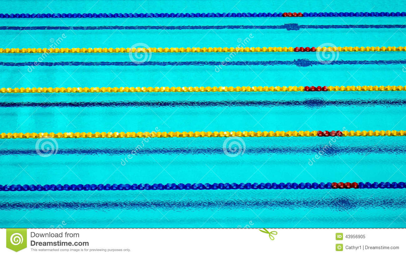 Lane Ropes In Swimming Pool Stock Image Image Of Sports