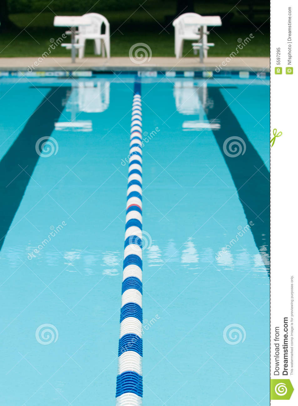 Lane Separator In Outdoor Swimming Pool Stock Image Image 5597295