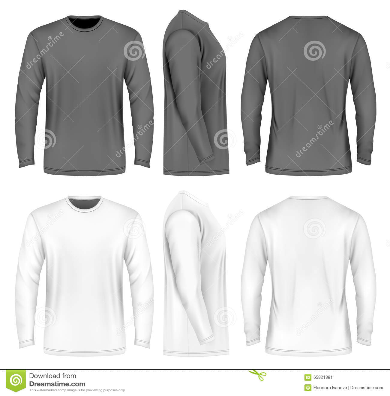 5bcc69a49df948 Langärmliges T-Shirt Der Männer Vektor Abbildung - Illustration von ...