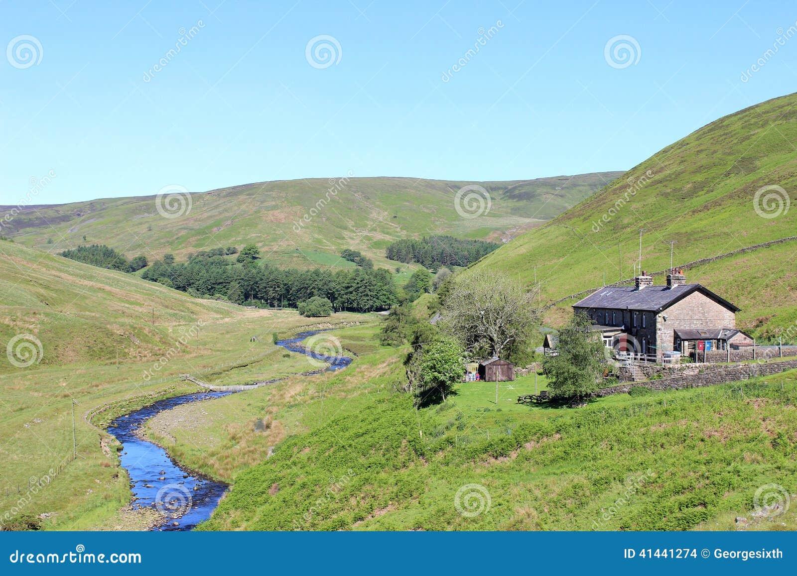 Langden bäck, ho av Bowland, Lancashire