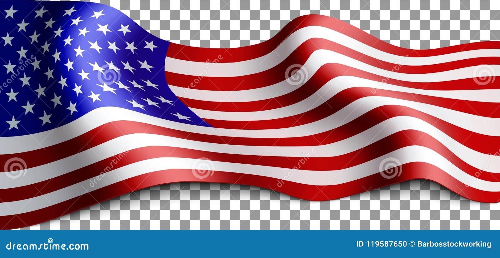 Lange amerikanische Flagge
