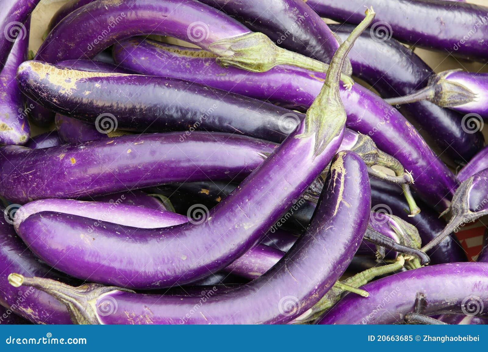 Lange aubergine