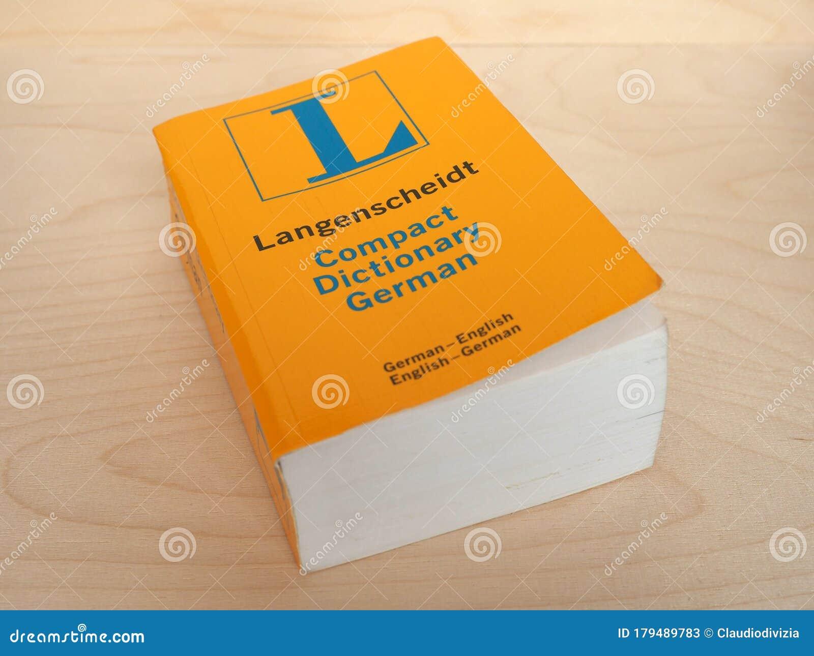 Langenscheidt Compact German English Dictionary Editorial Stock ...