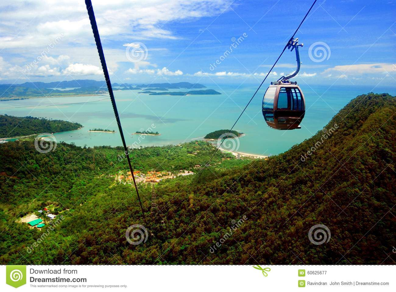 Langkawi Cable Car Editorial Photography Image 60625677
