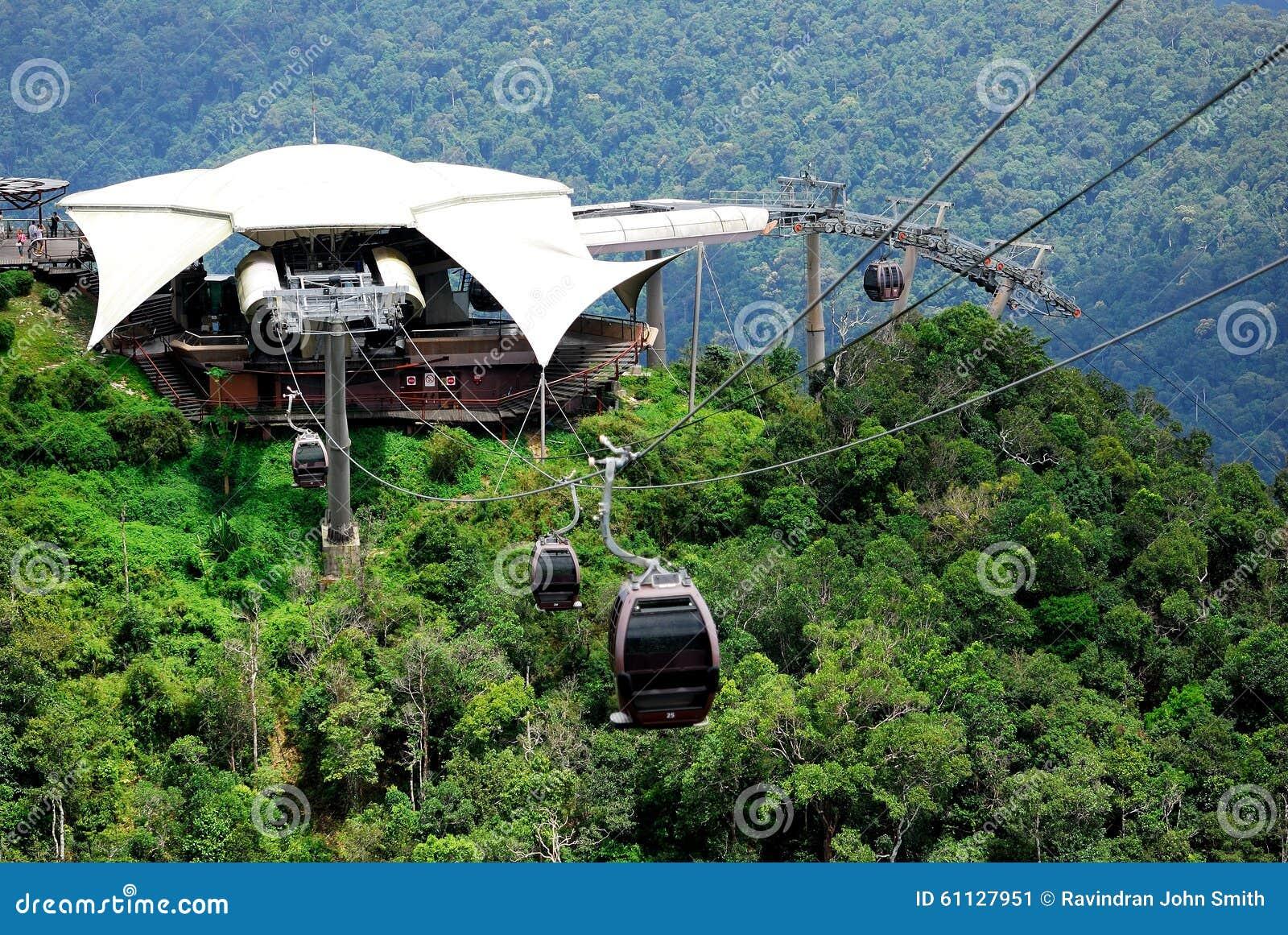Langkawi Cable Car Sunset Stock Image Image Of Mountains 40721197