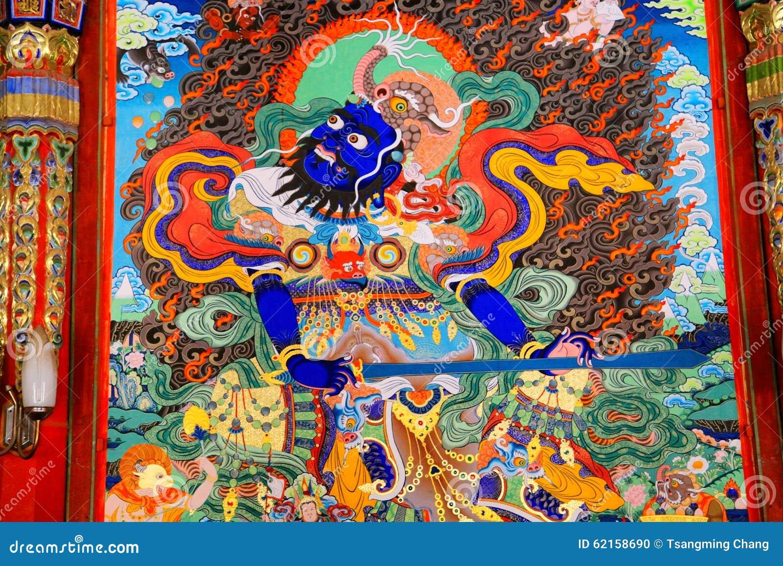 Langmutempel van Tibetaans Boeddhisme in China