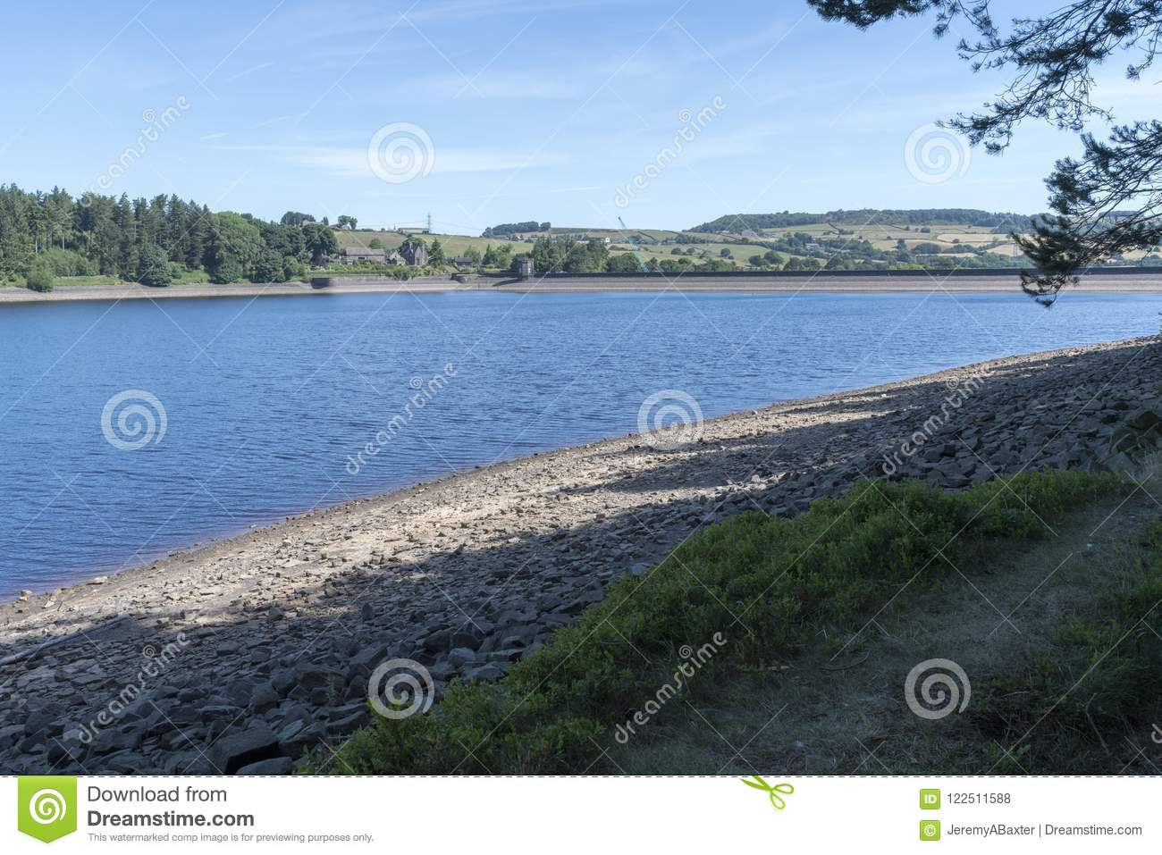 Langsett Reservoir in South Yorkshire on the edge of the Peak District