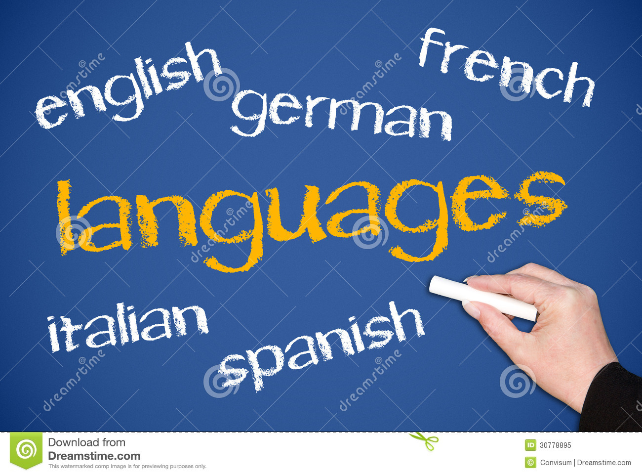 English In Italian: Languages Royalty Free Stock Photo