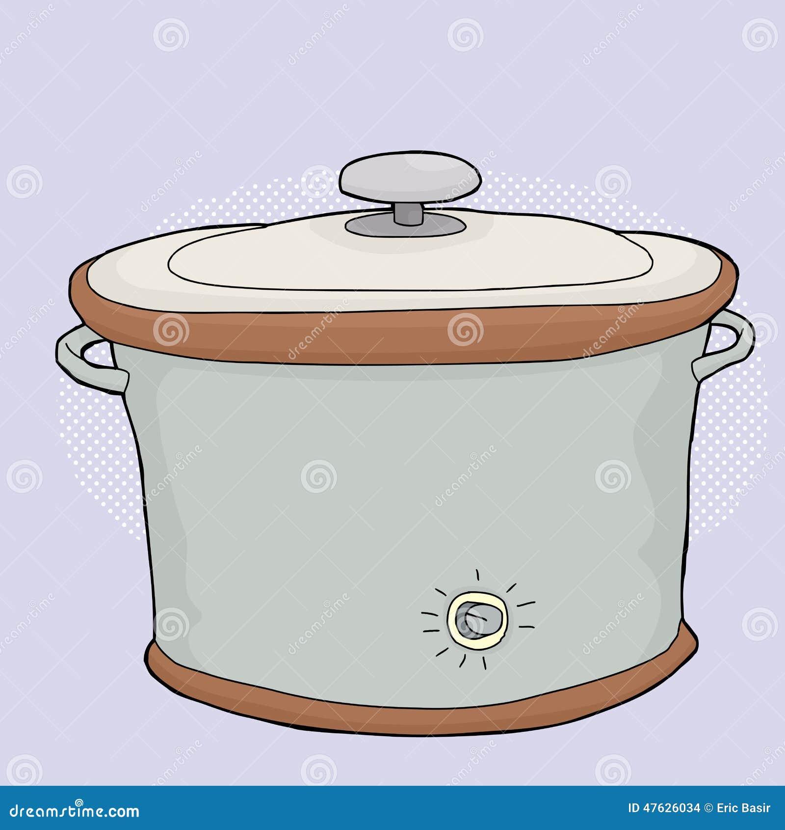 Langzaam Kooktoestel met Deksel