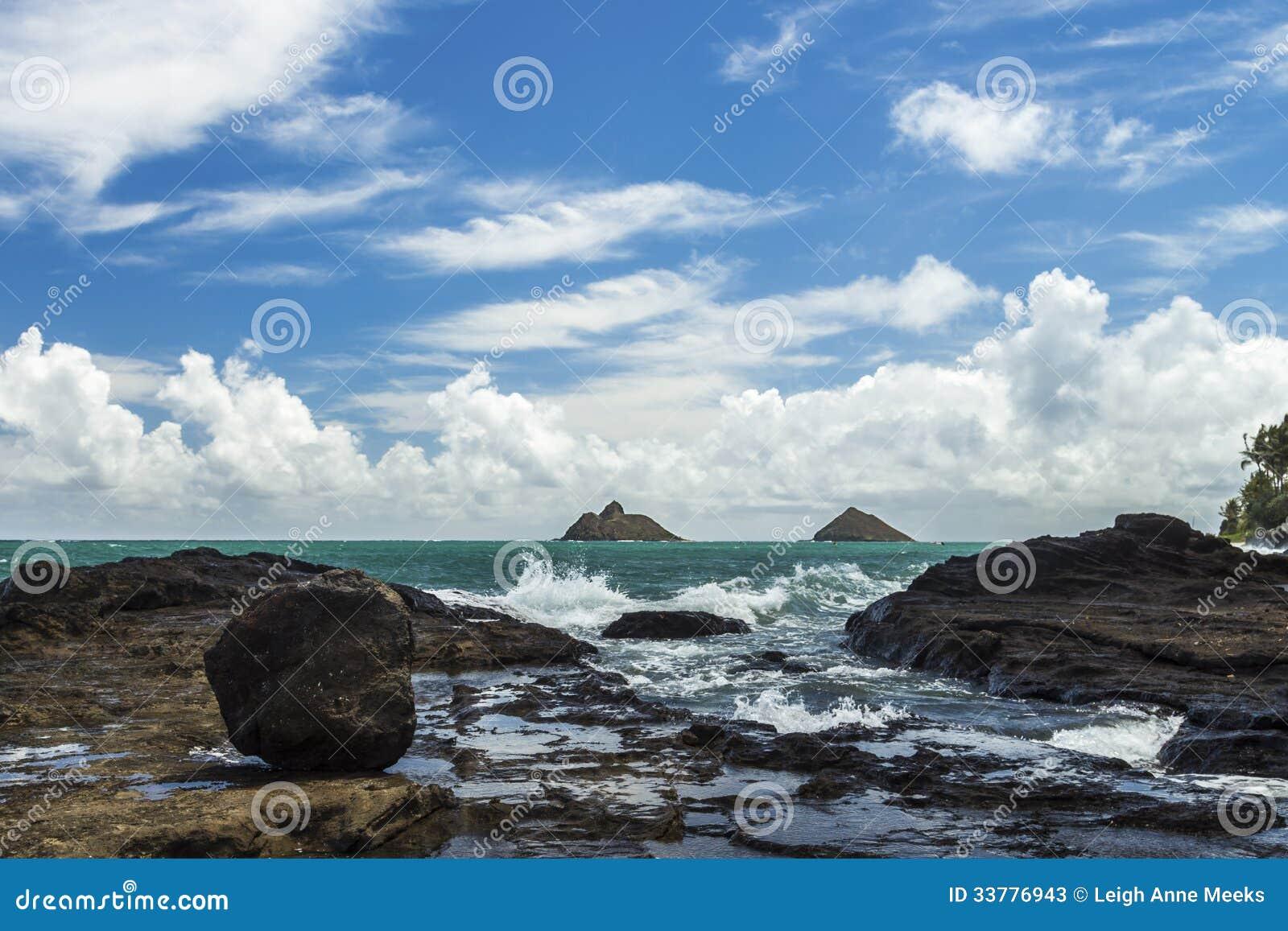 Na Mokulua Hawaii: Lanikai Stock Photos
