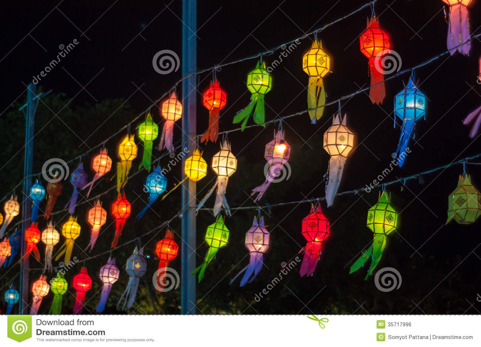 Lanna Thailand Folding-document lantaarns