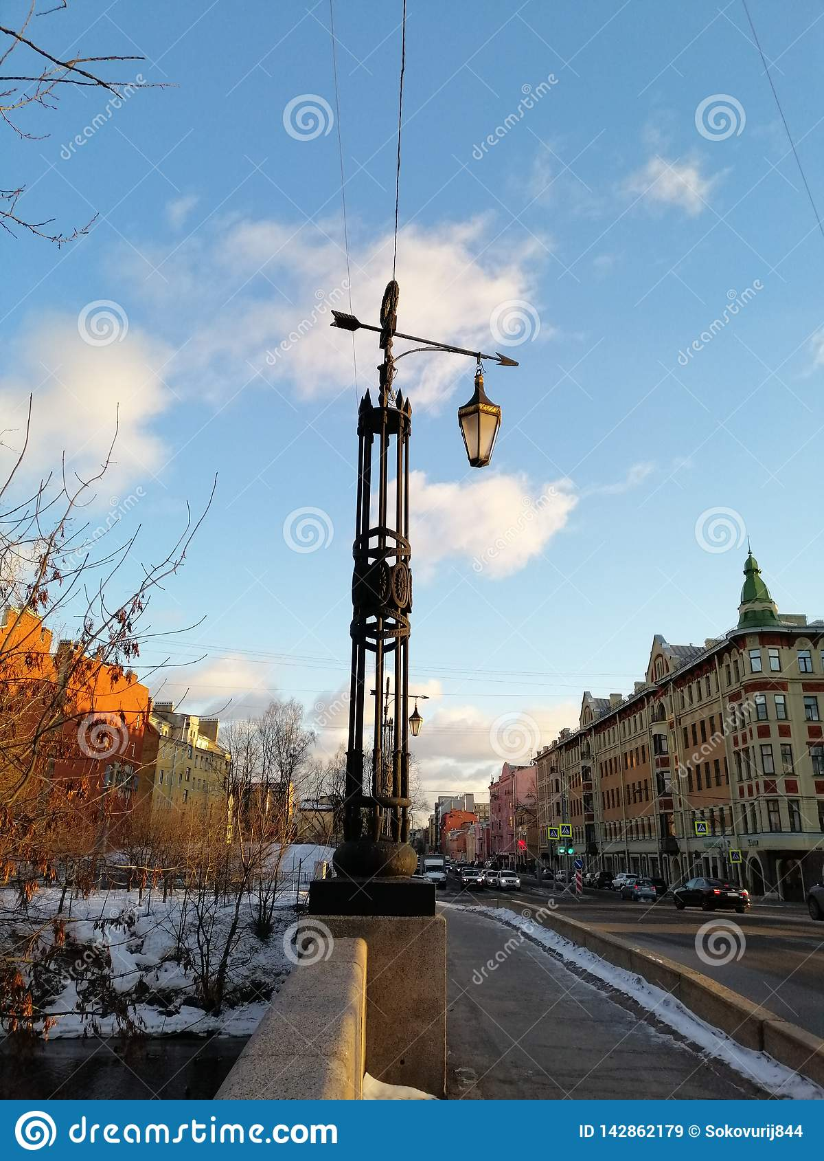 Lantaarn op de brug