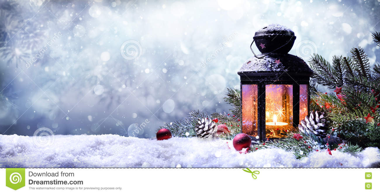 Lantern With Fir Branches