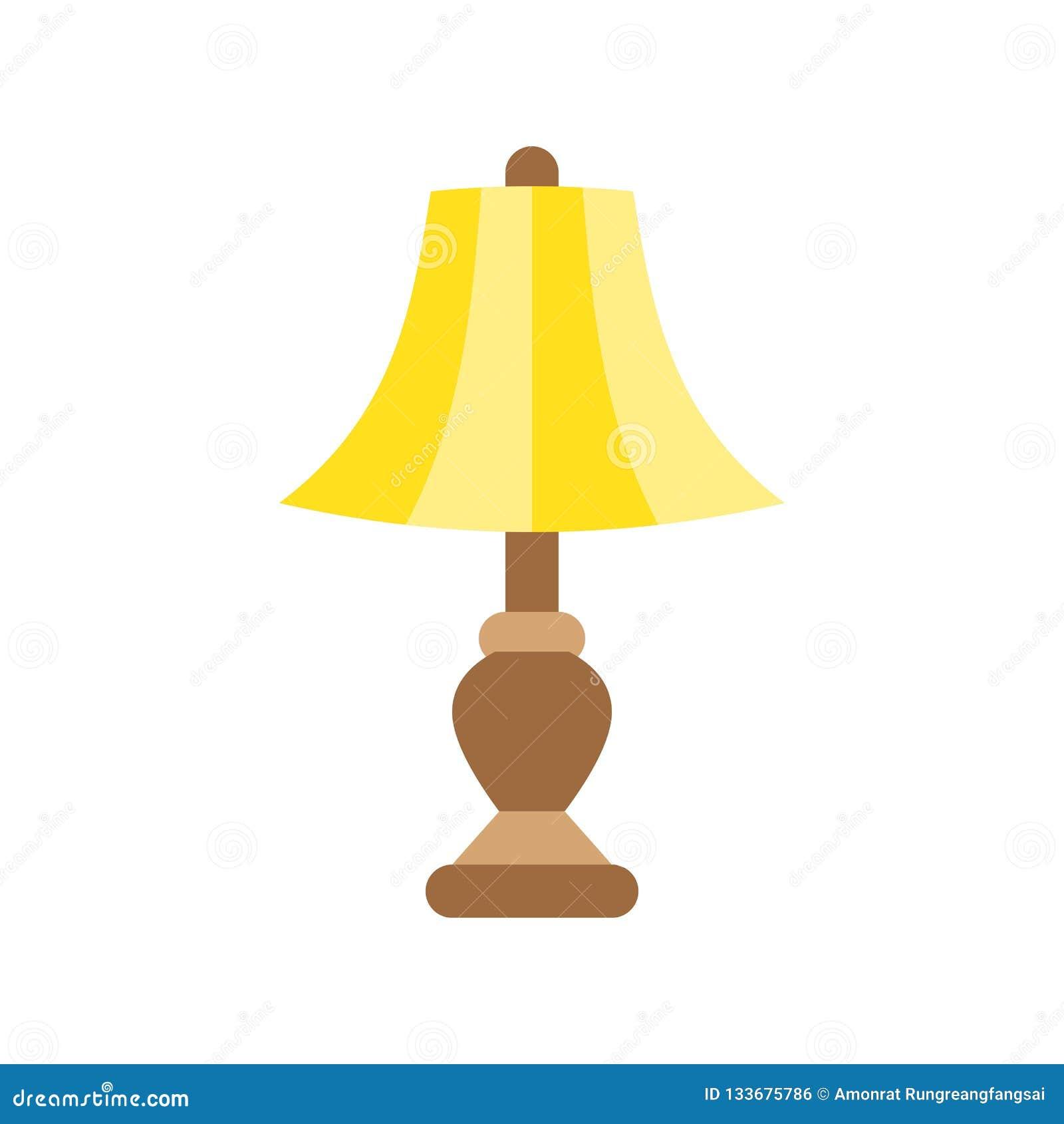 Lantern or lamp vector icon, flat style