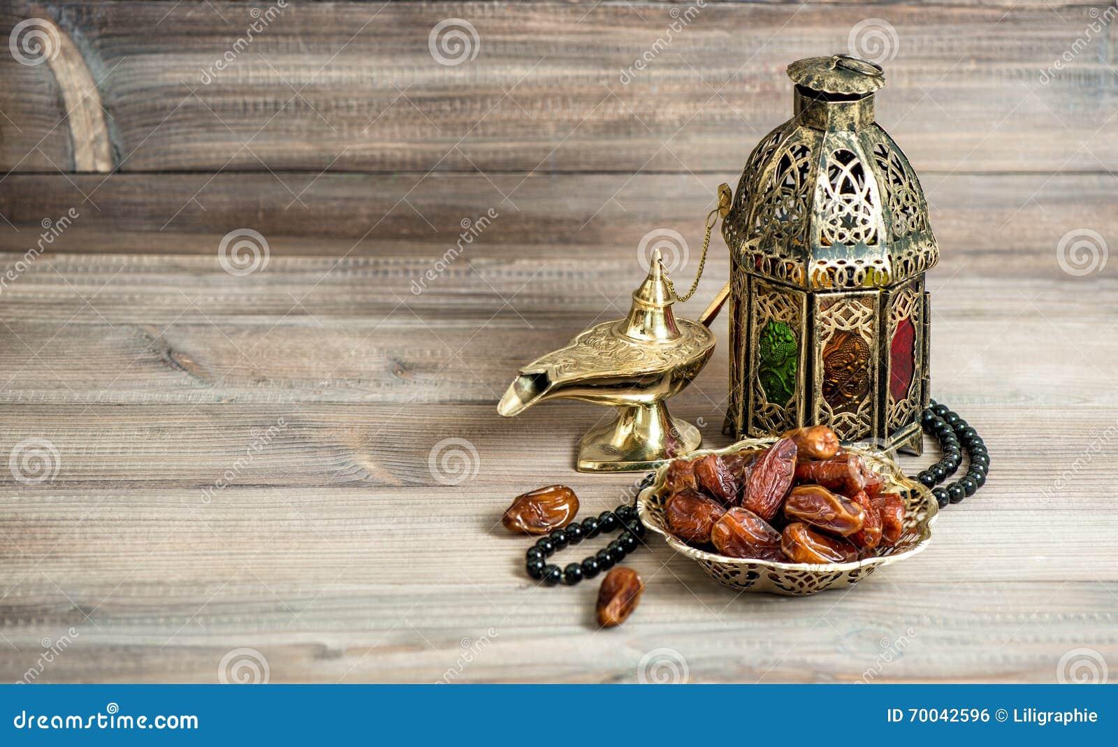 Lanterna árabe, rosário das datas Conceito islâmico dos feriados