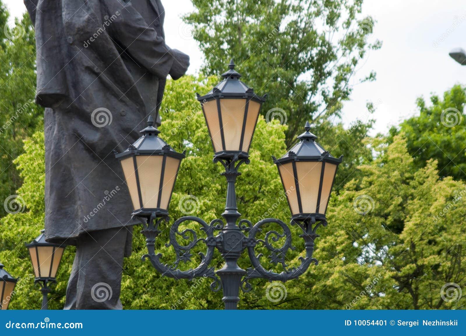 A lanterna da cidade ajustou três