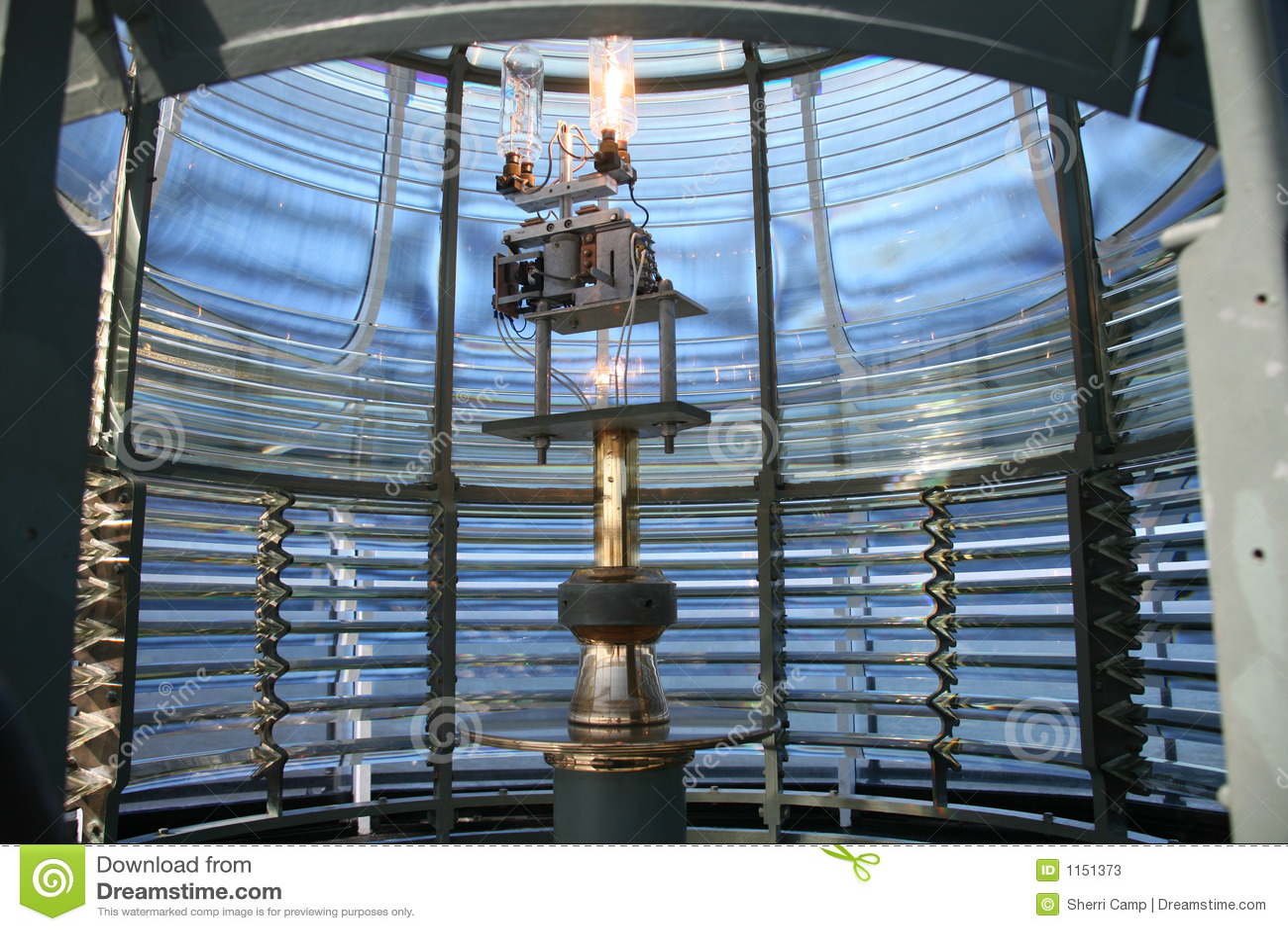 Lanterna interior do farol